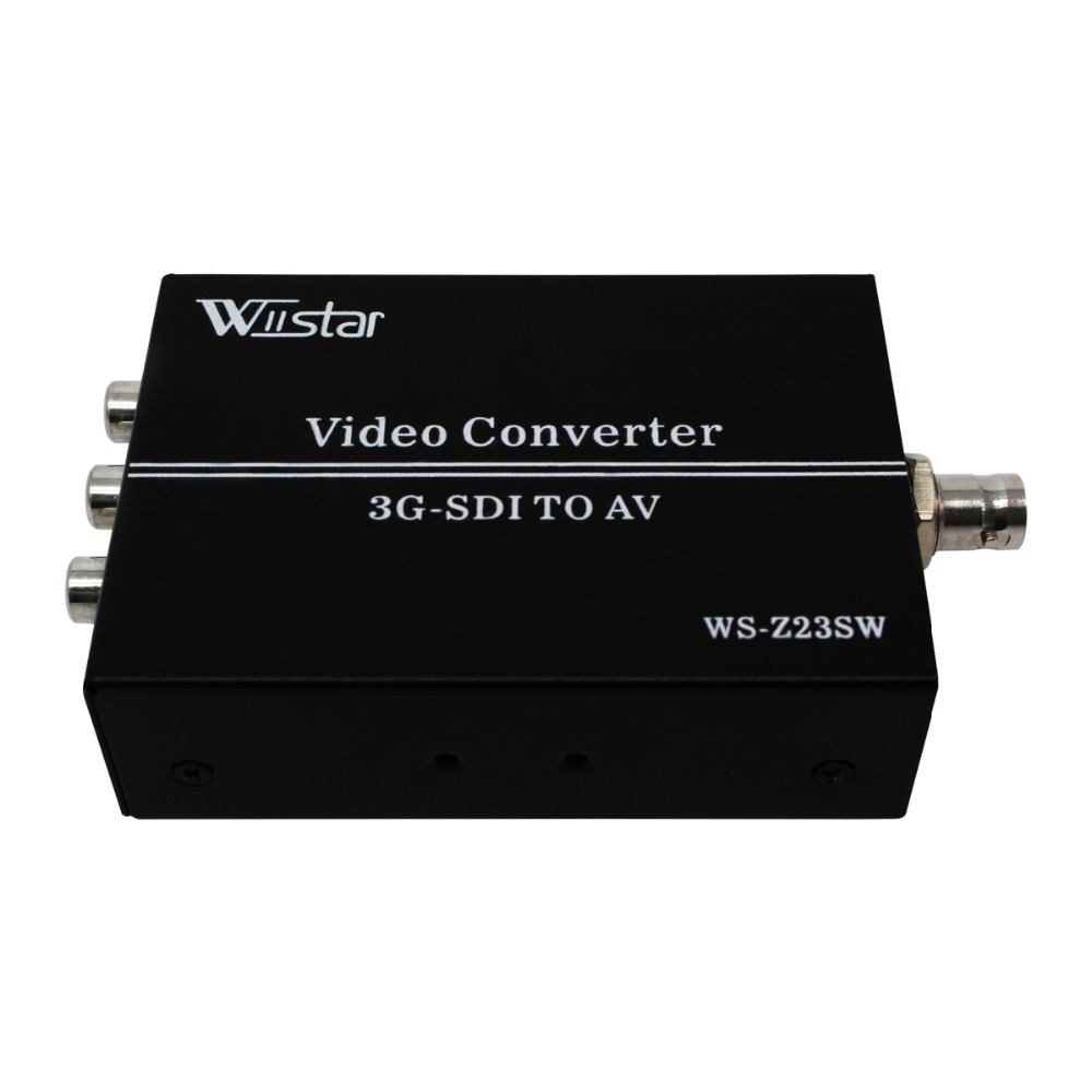 Wiistar 3G HD SDI to AV Converter BNC to RCA Adapter Audio Scaler Up to 1080P
