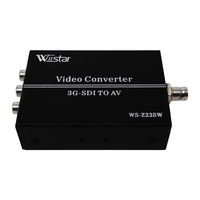 Wiistar 3G HD SDI to AV Converter BNC to RCA Adapter Audio Scaler Up to 1080P Support LPCM 2.0 for TV