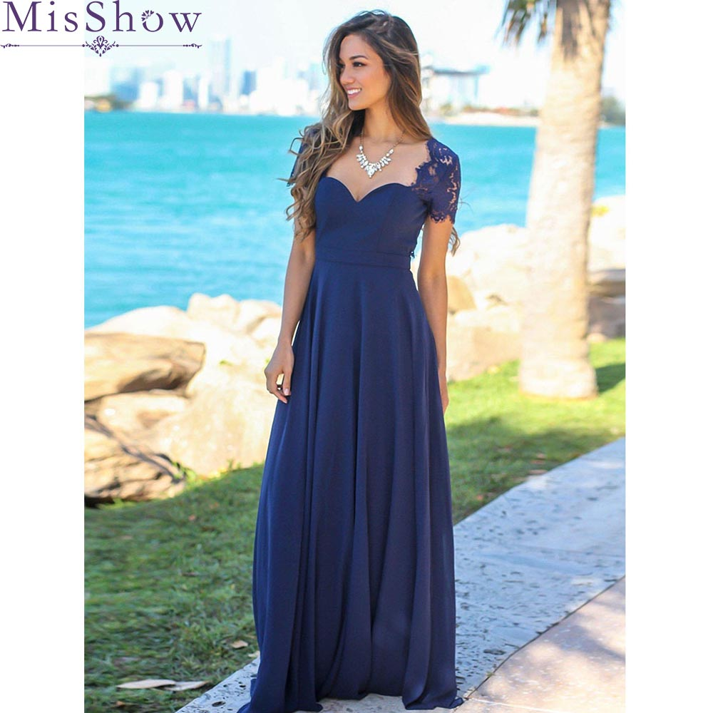 Fashion Women Adult Chiffon Long   Bridesmaid     Dresses   Women Ladies Sweetheart Bridal Maxi Prom Gown Princess Lace Beach   Dresses