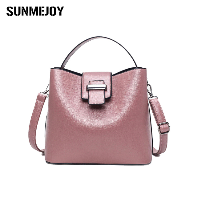 Sunmejoy Hot 2017 Winter Fashion Women Handbags High Quality Pu Office Lady Messenger Bag Ping Shoulder