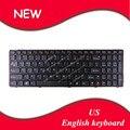 Inglés teclado para lenovo g580 z580 v580 g580a v580a v580 v580c ideapad z585 z585a z580a g585 g585a marco negro ee. uu. teclado