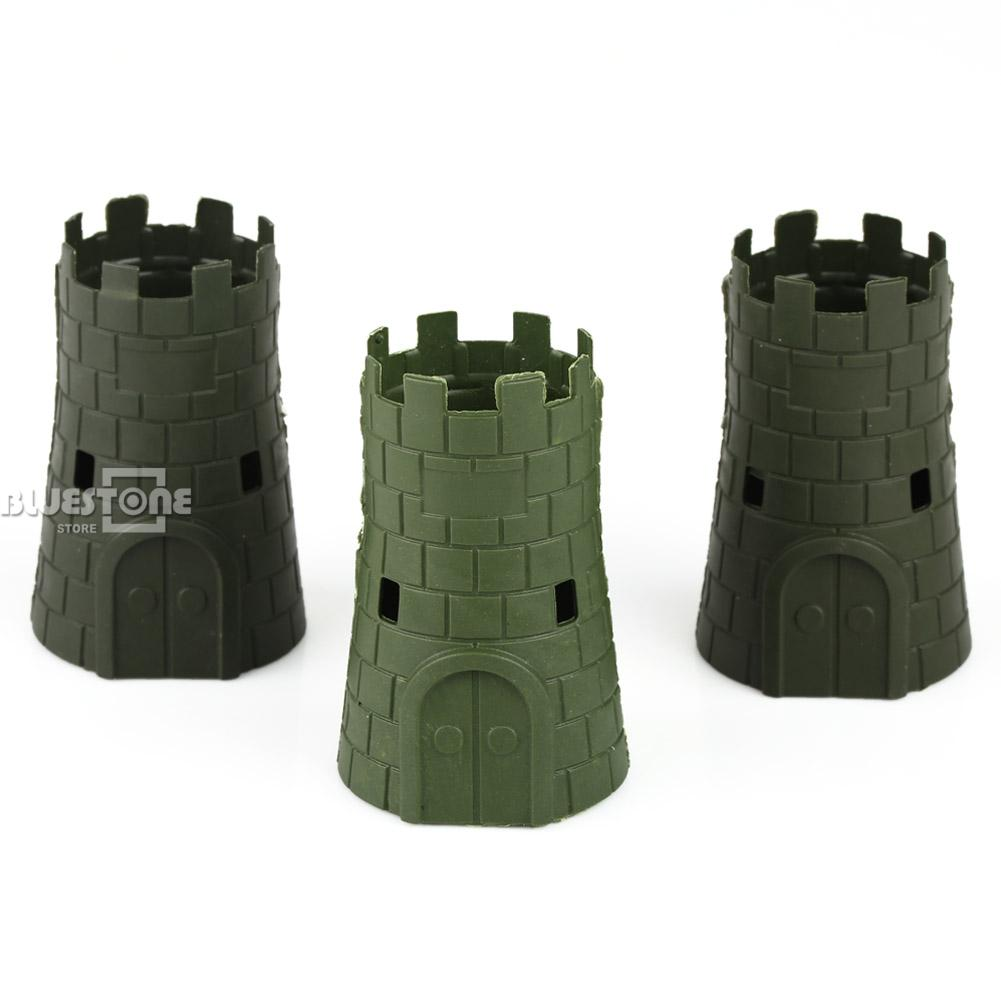 3pcs Set Military Blockhouse Turret Model Plastic font b Toy b font Accessories