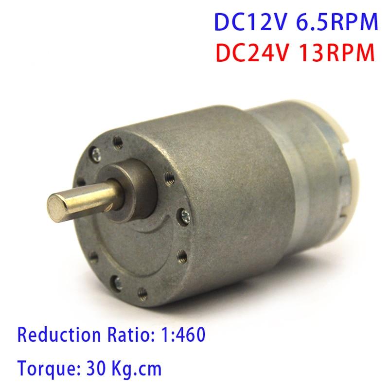 Motor reductor de engranaje de alto par 37GB-550 DC 12V 300RPM