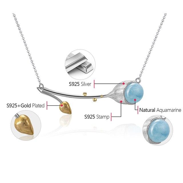 Designer Elegant Fine Jewelry Natural Aquamarine Necklace6