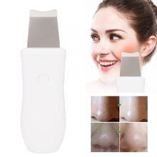 Ультразвуковая щетка для кожи лица глубокого очищения шпатель удаление акне чёрных точек Красота устройство поры лицо чистящее средство для чистки