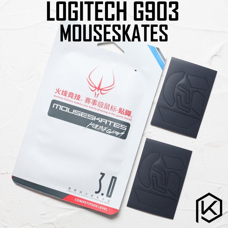 Hotline Games 2 Sets/pack Competition Level Mouse Feet Skates Gildes For Logitech G903 0.6mm Thickness Teflon