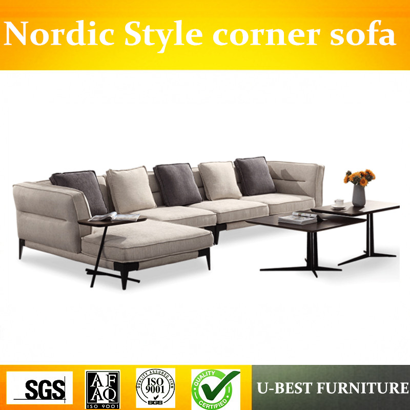 US $1099.0 |U BEST wholesale couch living room sofa furniture modern nordic  style fabric sofa set leisure corner sofa-in Living Room Sofas from ...
