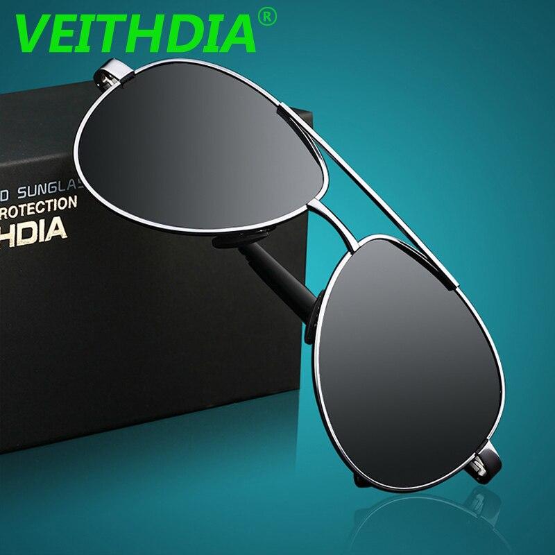 VEITHDIA UV400 Pilot Jurte Sonnenbrille Männer Polarisierte Sonnenbrille Marke Logo Design Fahren Sonnenbrille Brille Oculos de sol 1306