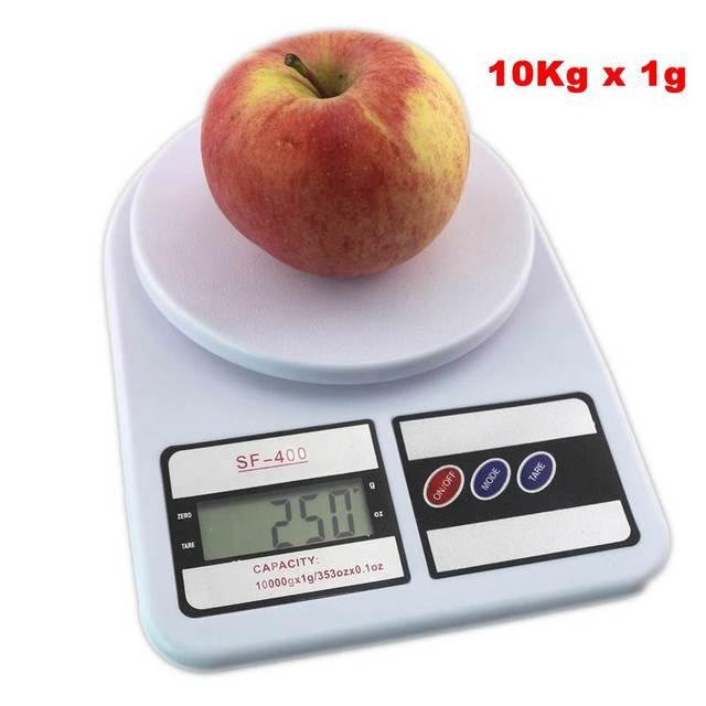 10 Kg X 1g Digital Libra Cocina Balanza Electrónica 10000g Fruta Peso Escala Ta De Culturismo