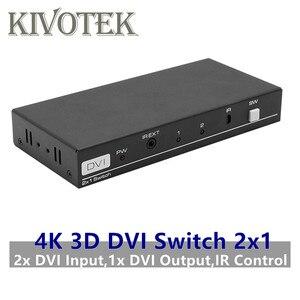 Image 1 - 4K 3D 1080P DVI commutateur 2x1 commutateur adaptateur DVI D connecteur femelle IR Extender DTS AC3 DSD pour CCTV PC DVD caméra livraison gratuite