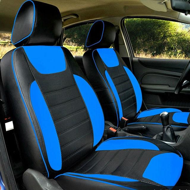 Automotive auto stoelhoezen lederen pu set interieur top voor ROVER ...