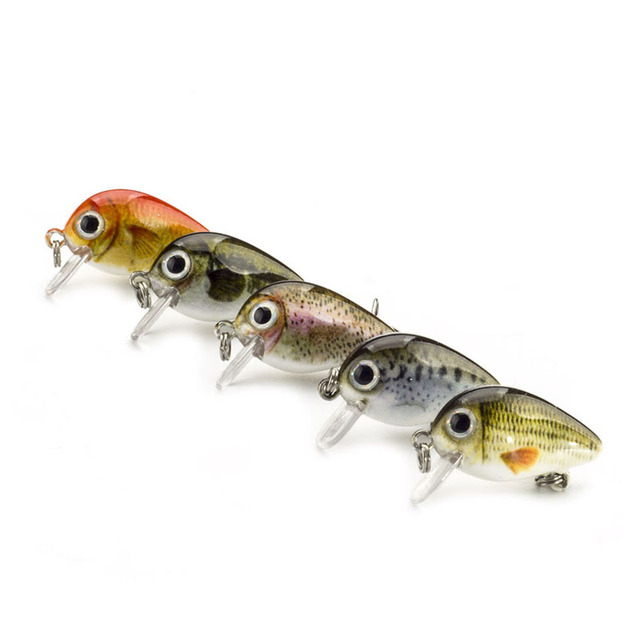 Mini Crank Bait Fishing Lures For Bass, Trout, Perch, and Pike 1