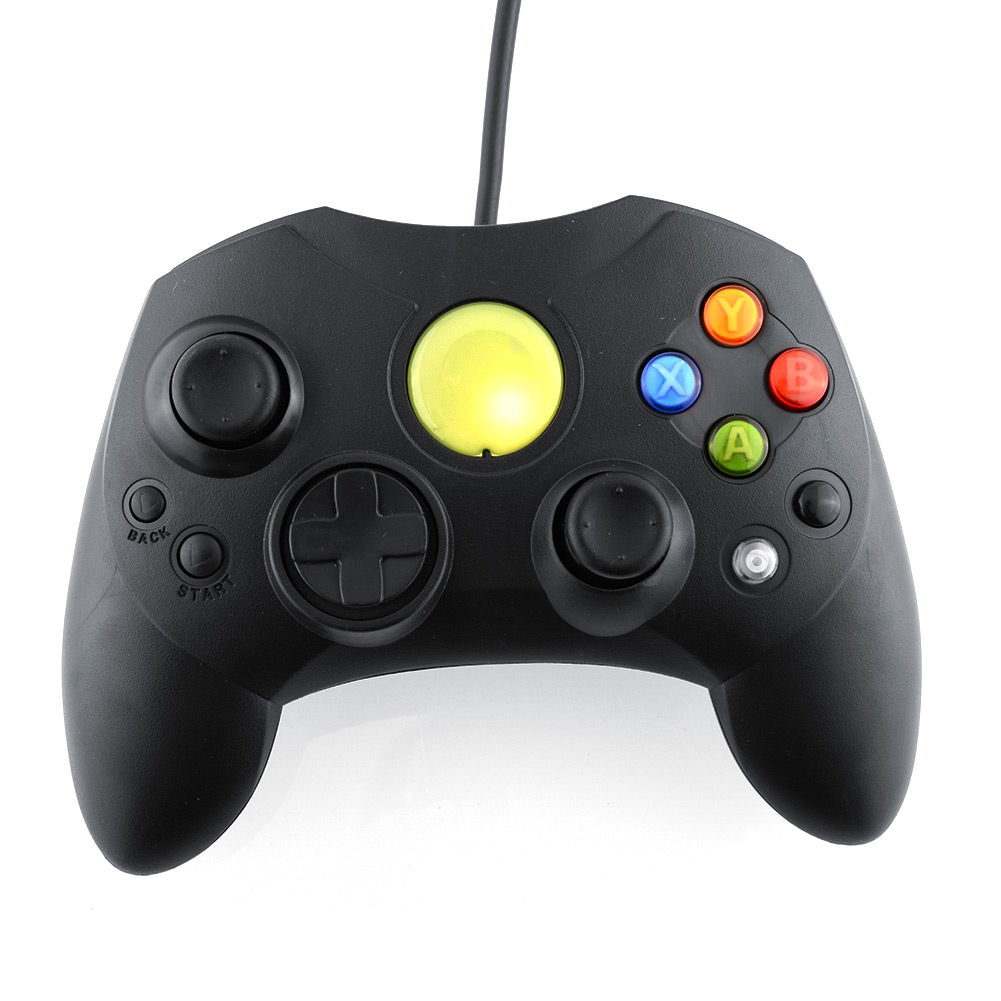 Black Wired Game Controller GamePad Joypad Joystick S TYPE For Microso