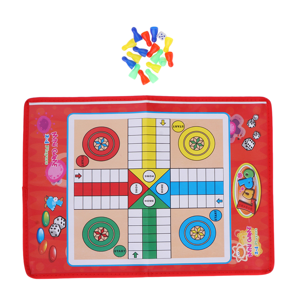 Portable Kids   Ludo Chess Game Family Children Board Game For 2 To 4 Players Outdoor Indoor Park Party Travelling