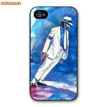 minason Michael Jackson Dancing MJ Cover case for iphone 4 4s 5 5s 5c 6 6s 7 8 plus samsung galaxy S5 S6 Note 2 3 4     H3691