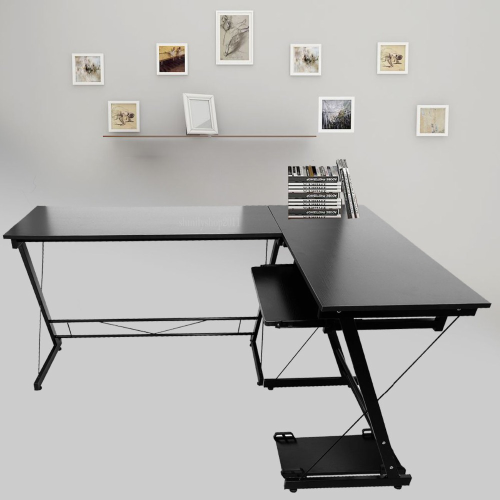 (Ship from DE) L-shape Designer Computer PC Table Home Study Office Furniture Desk an experimental study on l asparaginase from marine sediments