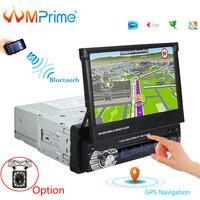 AMPrime 1 din Автомобильная Радио 7 Универсальный Автомобильный плеер gps навигация сенсорная автомобильная стереосистема Bluetooth плеер FM USB плеер с