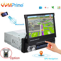 AMPrime 1 din Car radio 7 Universal Car Player GPS Navigation Touch Car Stereo Bluetooth Player FM USB Player With Rear Camera