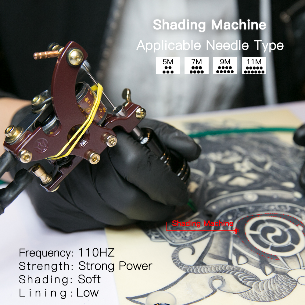 Top Quality Shading Tattoo Machine Artistlegering Frame Wrap Coils - Tatuering och kroppskonst - Foto 5