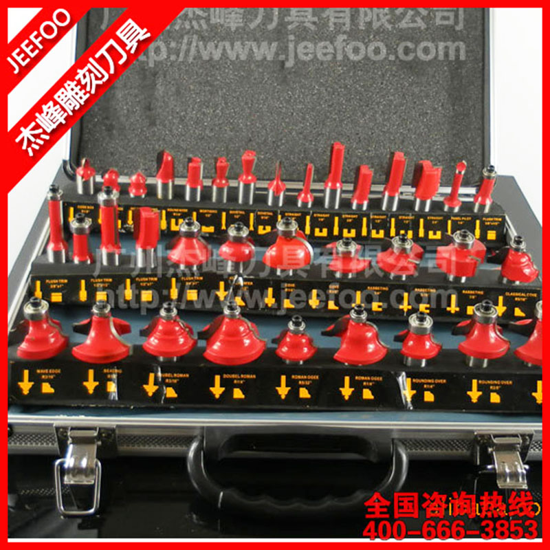 35PCS Shank 6.35(1/4) &12.7(1/2) Tungsten Carbide CNC Router Bit Set, woodworking tools with Wood Case box tungsten alloy steel woodworking router bit buddha beads ball knife beads tools fresas para cnc freze ucu wooden beads drill