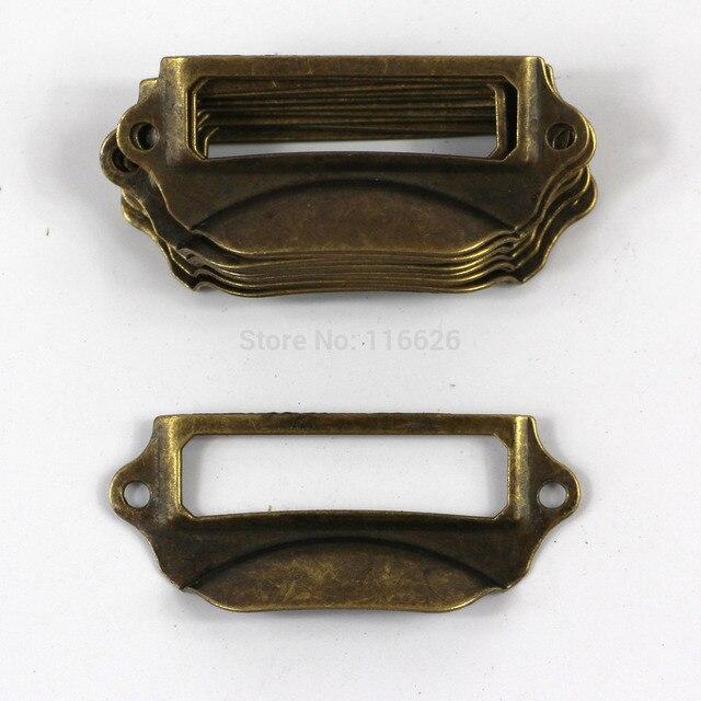 70x30mm antike bronzee etikettenrahmen schublade griff mit ...