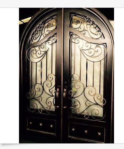 Hench 100% steels metal iron entry door aluminum doors|iron doors|wrought iron doors|iron wrought door - title=