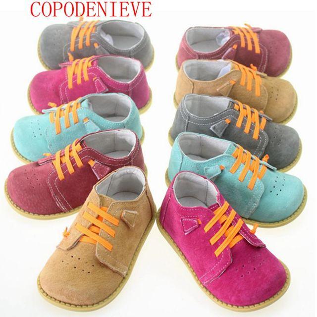 Copodenievegenuine cuero niños shoes girls boys shoes kids shoes nueva llegada niños zapatillas niñas zapatillas de deporte de moda infantil