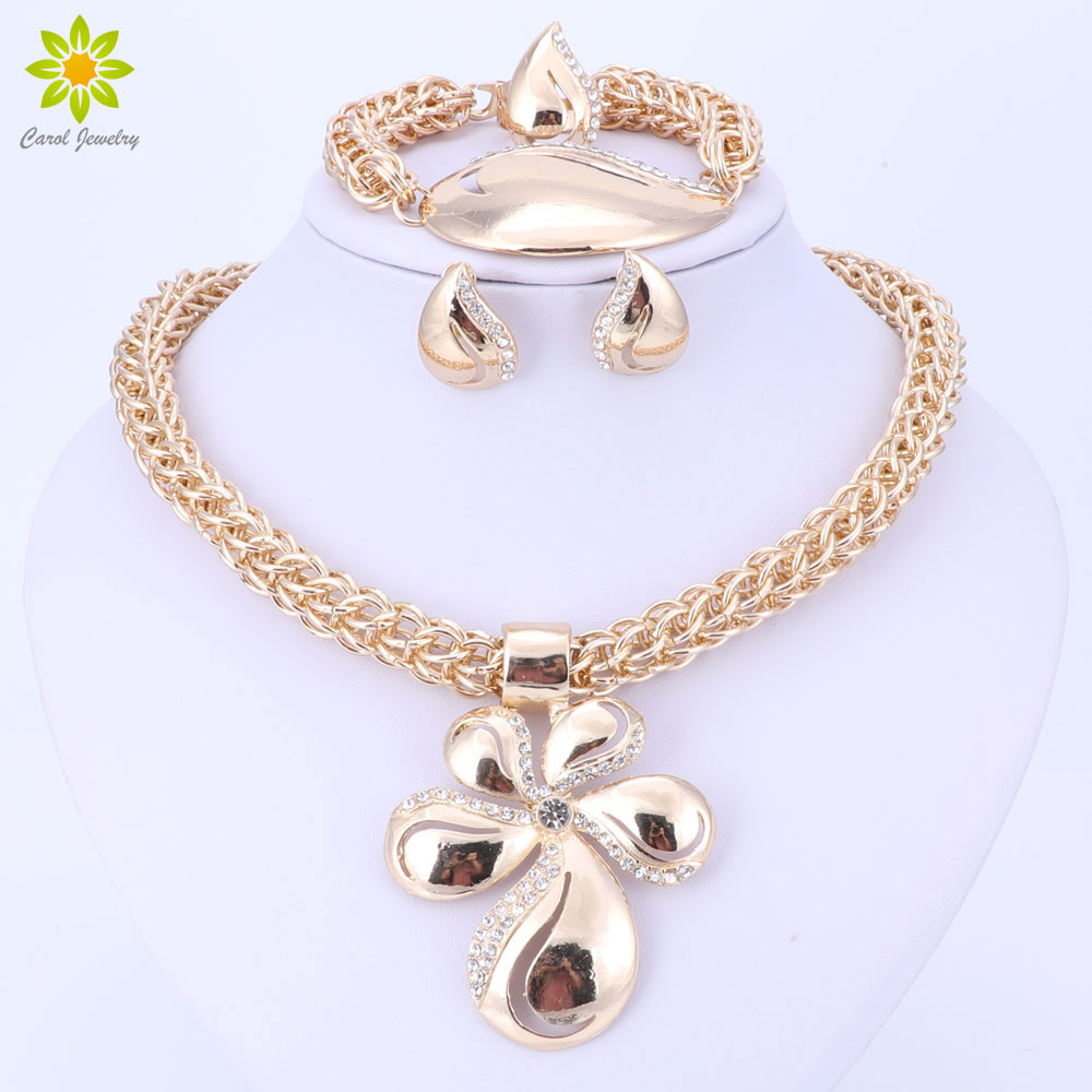 Gold Color Jewelry Set...