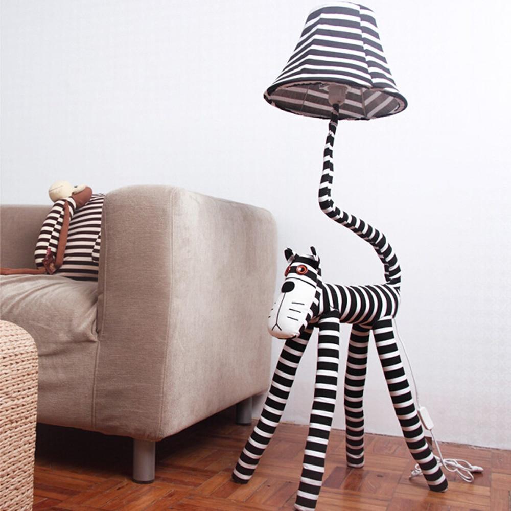 ФОТО High Quality Cartoon Kids Floor Lamp 110V/220V E27 Cute Cat Star People Led Floor Lamps Decorative Floor Lamps Bedside Lamp