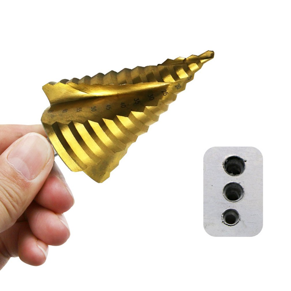 4241 perceuse à pas en spirale à tige triangulaire plaquée titane 6-65mm outils électriques perceuses