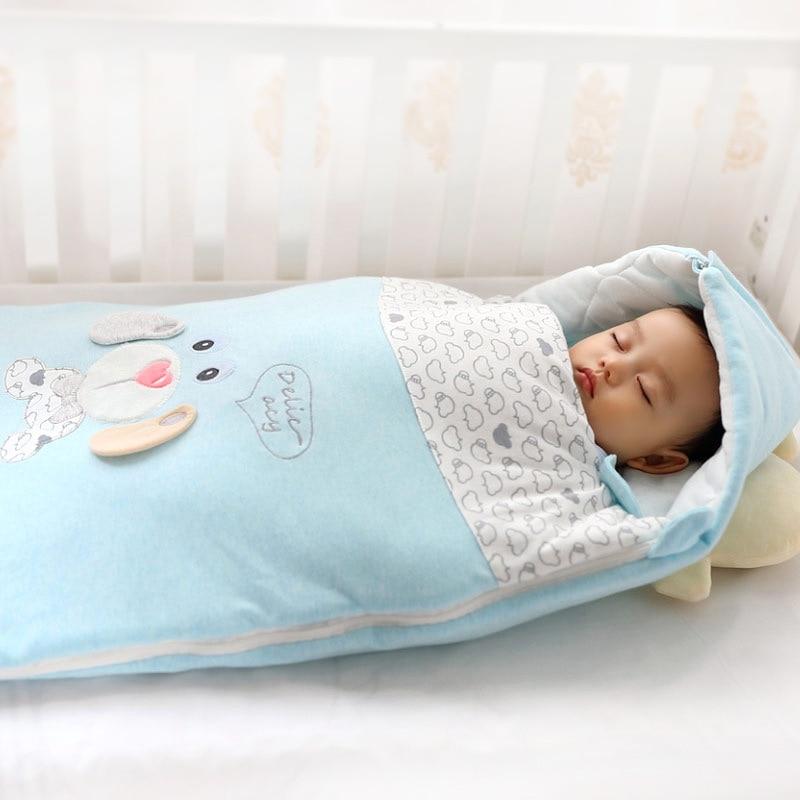 Cute Cartoon Animal Newborn Infant Sleeping Bag Swaddle Quilt Quality Cotton Warm Sleepsack Stroller Toddler Sleep Blanket Sack
