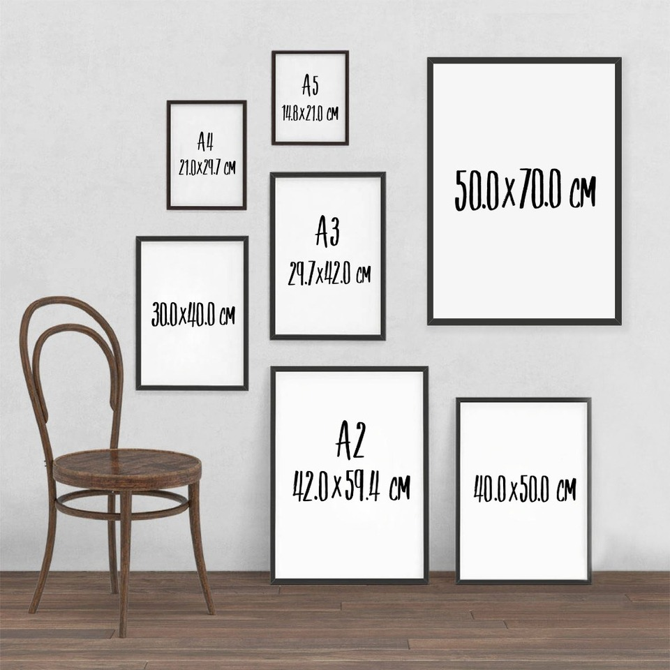 Wall Art Retro Poster Decor Chalk