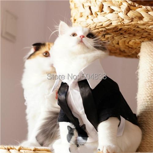 Macskák Tuxedo Hivatalos ruhák Kölyök Háziállat Esküvői Party - Pet termékek