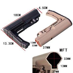 Image 5 - 2019 nuevo táctico ajustable Stock Mil táctico MFT nailon claro cuidado posterior Nylon táctico minimalista caza componentes