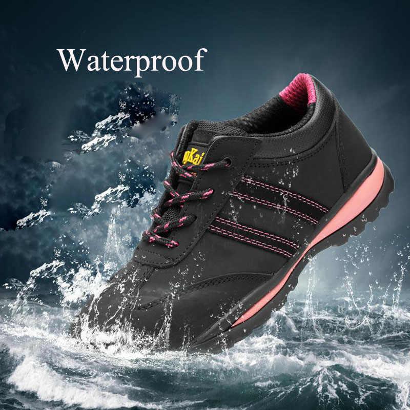 Sicherheit Schuhe Cap Stahl Kappe Sicherheit Schuh Stiefel Für Sommer Frau Arbeit Schuhe Atmungsaktive Wasserdichte Schuhe Tragen-beständig DXZ032