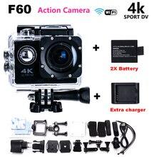 Go Pro héroe 4 Cámara de Acción estilo 4 K F60 WiFi Deporte cámara 30 M Impermeable mini Cámara 1080 p HD cam + Cargador + Batería Libre gratis
