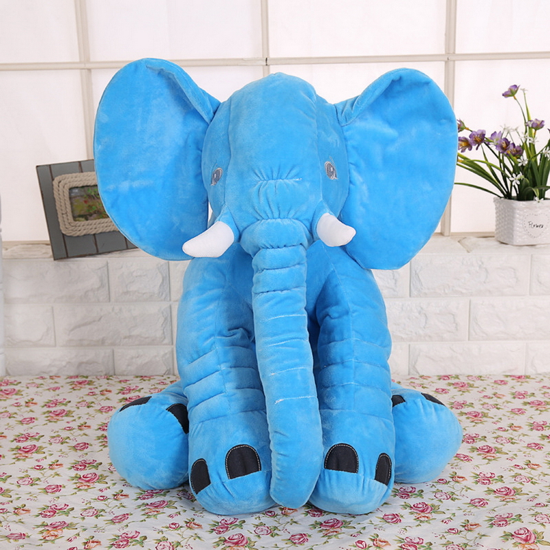Hot Selling Elephant Plush Doll Toy Baby Sleep Pillow Soft Toys Gift For Children Kids 28X33CM nooer new arrival 40cm small soft elephant plush toy stuffed elephant pillow doll birthday kids children gift wholesale