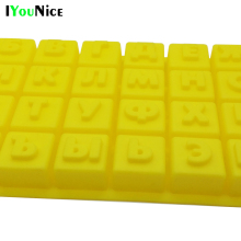 DIY Cake Tool Food-grade Christmas Silicone Chocolate Mold as Jelly & Candy Pudding Mould with Alphabet/Letters of Russian