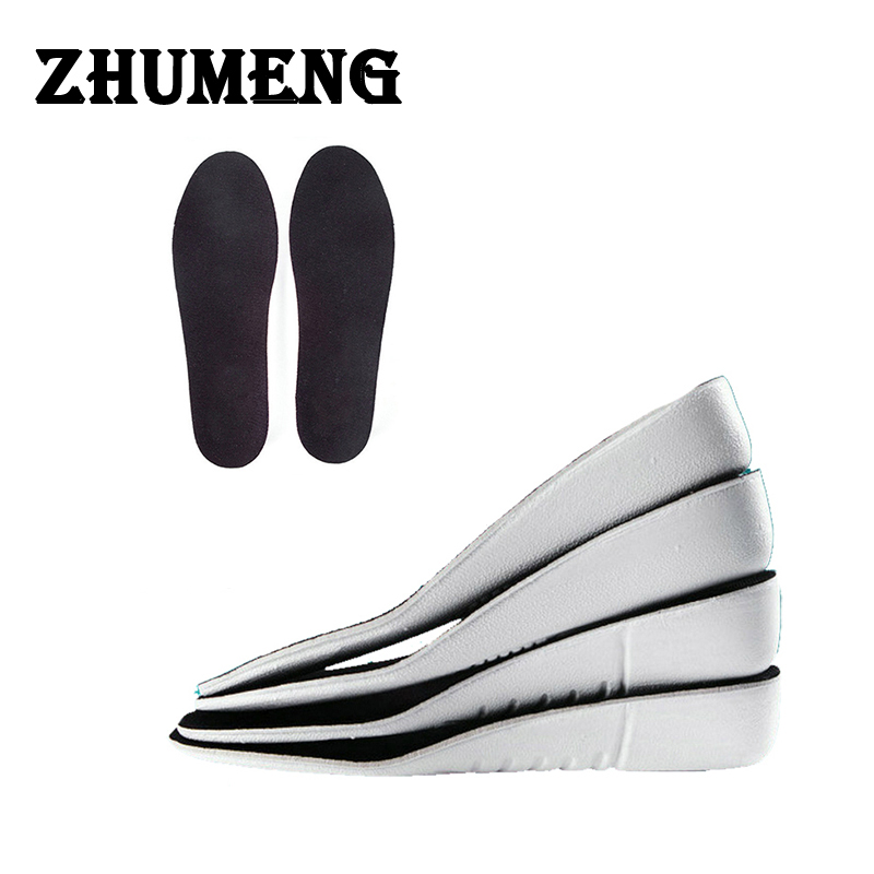 ZHUMENG Men Women Scholls Insoles EVA Palmilha Height Increase Insole Orthopedic Insoles Silicone heels Almofadas Silicone mat