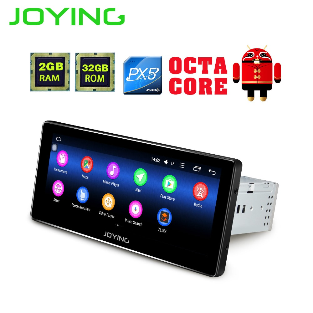 joying 8 8 inch android 8 0 auto radio stereo single 1 din octa core universal car media player. Black Bedroom Furniture Sets. Home Design Ideas