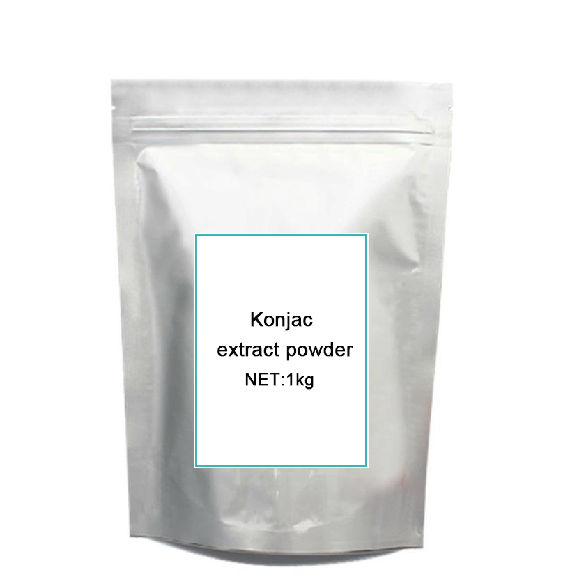 цена на factory hot sale konjac extract po-wder glucomannan 90% with the best price 1kg