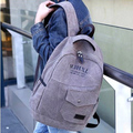 2014 fashion canvas Korean pocket men's backpack college student school book bag vintage travel bag leisure laptop shoulder bag