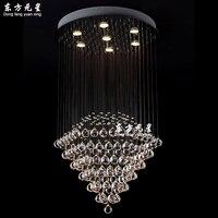 Lámpara de araña de cristal lámpara de escalera lámpara Saile accesorio de iluminación para interior