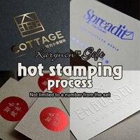 Custom Process Hot Stamping Process Envelope LOGO Invitation Personalized Signature Company Logo Card Multicolor Optional