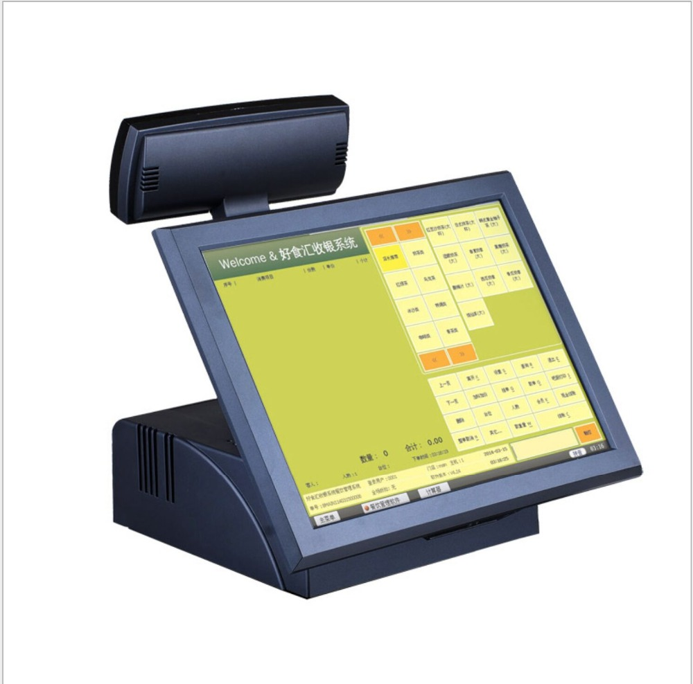 15 Inch Touch Screen Dual Screen Pos System For Restaurant