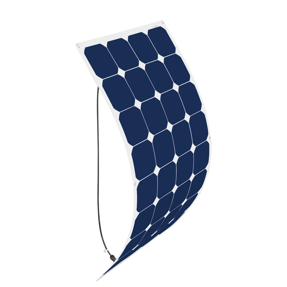 BOGUANG Flexible solar panel 100 watt 18V efficient solar cell 100w outdoor module Rear MC4 connection box solar panels flexible solar panels 25w for boats with connection box 0 9m cable mc4 connector 12v