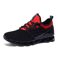 2017 Men Breathable Running Shoes Black Sport Shoes Outdoor Brand Sneakers for Men Non Slip Gym Shoes Trail Athletic Sneakers