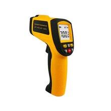Инфракрасный термометр Карманный Бесконтактный цифровой ЖК-дисплей Дисплей лазерной GM700