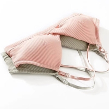 Bra Sexy Lingerie Padded Comfortable Wire Free Underwear Women Summer Bras Brassiere Solid Color Seamless Bralette