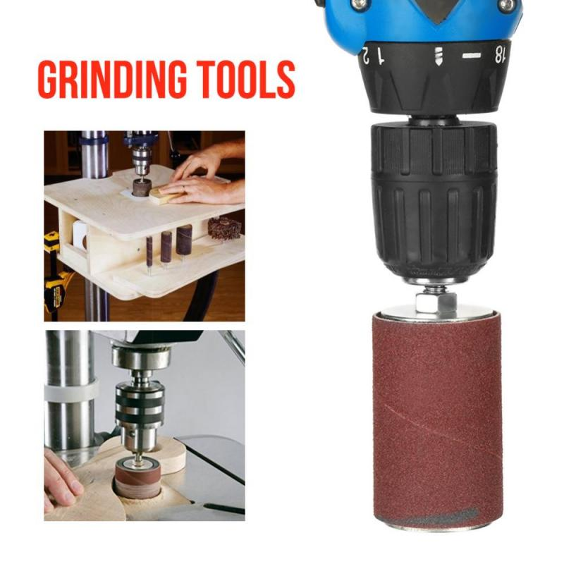 Image 2 - 20pcs/set Drum Sander Kit Spindle Sanding Drum Sander Tool Accessories with Case For Drill Press Knife Sharpening-in Abrasive Tools from Tools